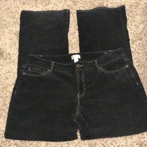 Ann Taylor Loft Julie corduroy pants size 14